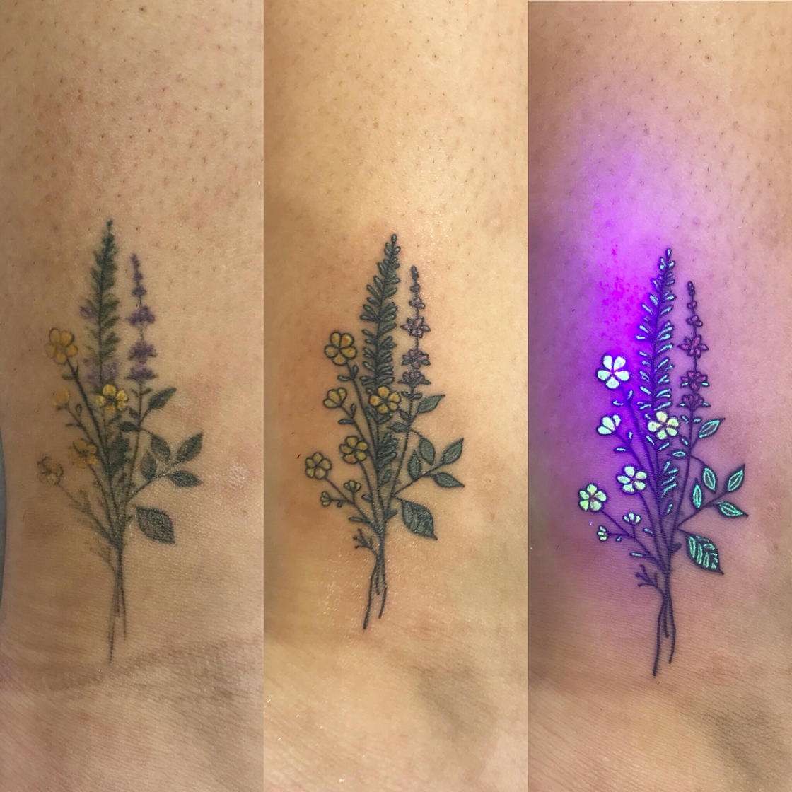 UV Tattoos – These tattoos reveal their secrets under a black light
