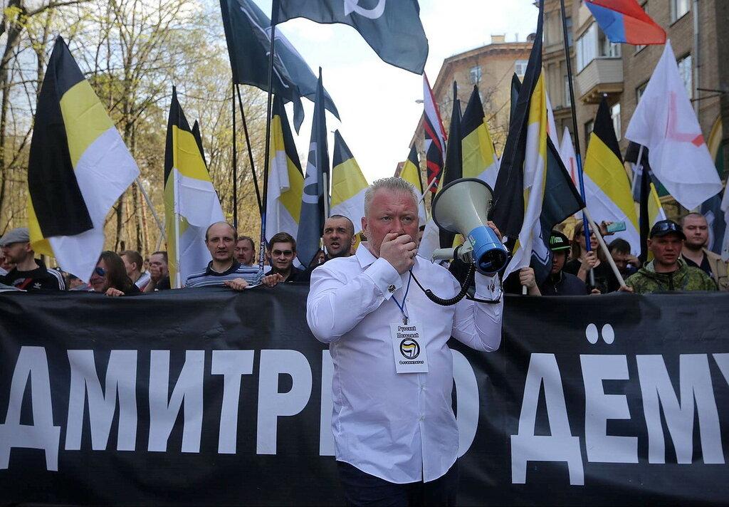 Ю. Е. Горский на Русском Первомае