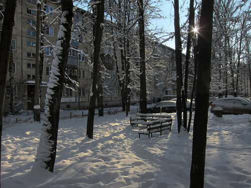 Снегопад 2018 года в Мытищах Автор: Юрий Семенов