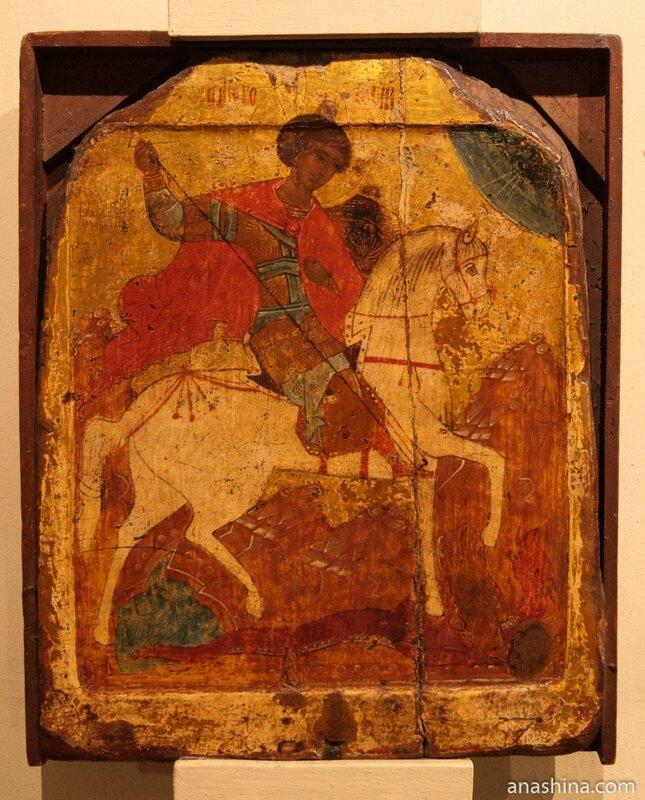Чудо Св. Георгия о змие. Богоматерь Одигитрия (оборотная сторона)