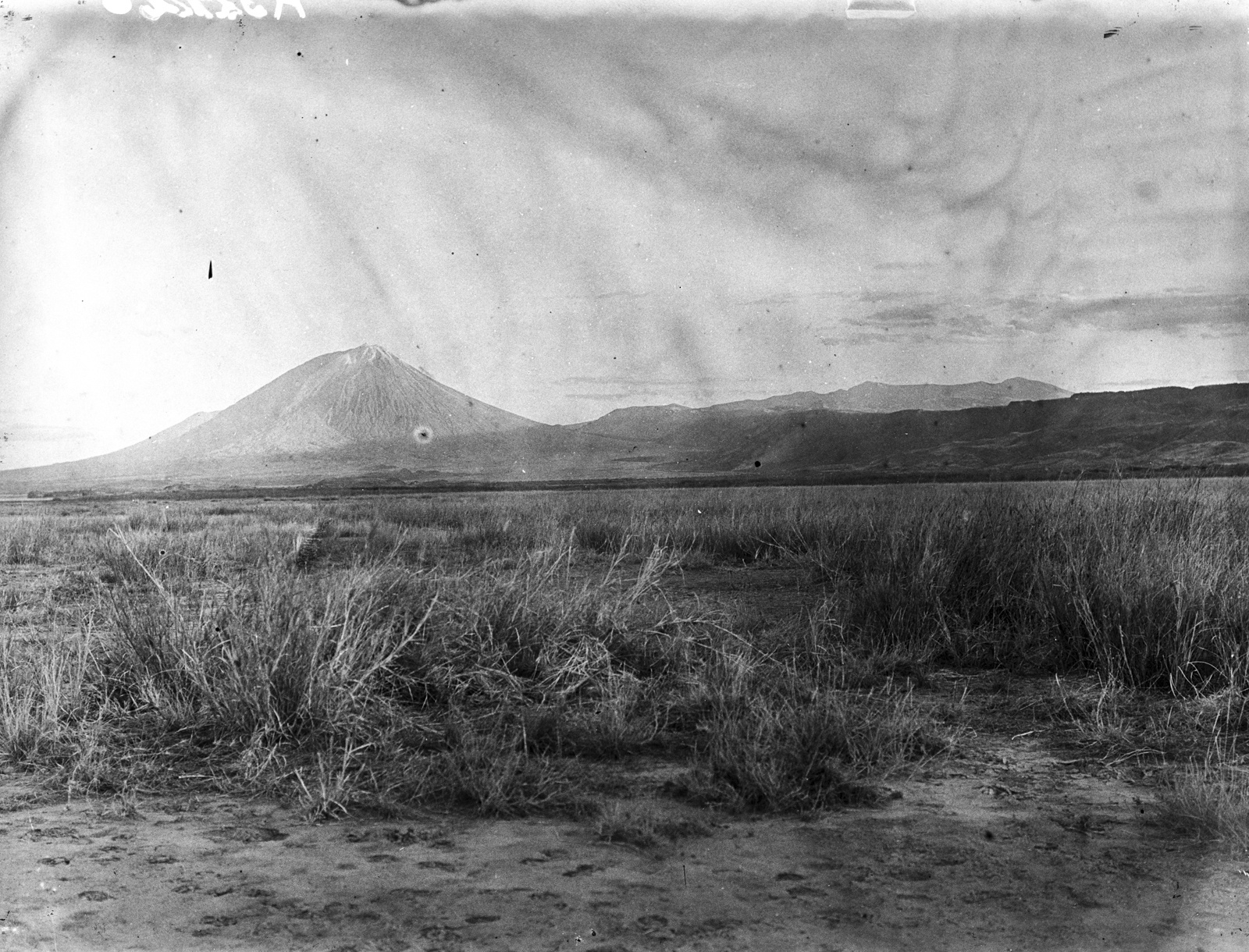 37. Вид на степь в районе  вулкана Ол-Доиньо-Ленгаи с северо-востока