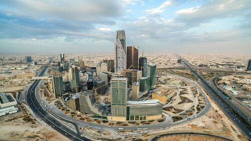 Riyadh City Skyline, Construction And King Abdullah Financial District