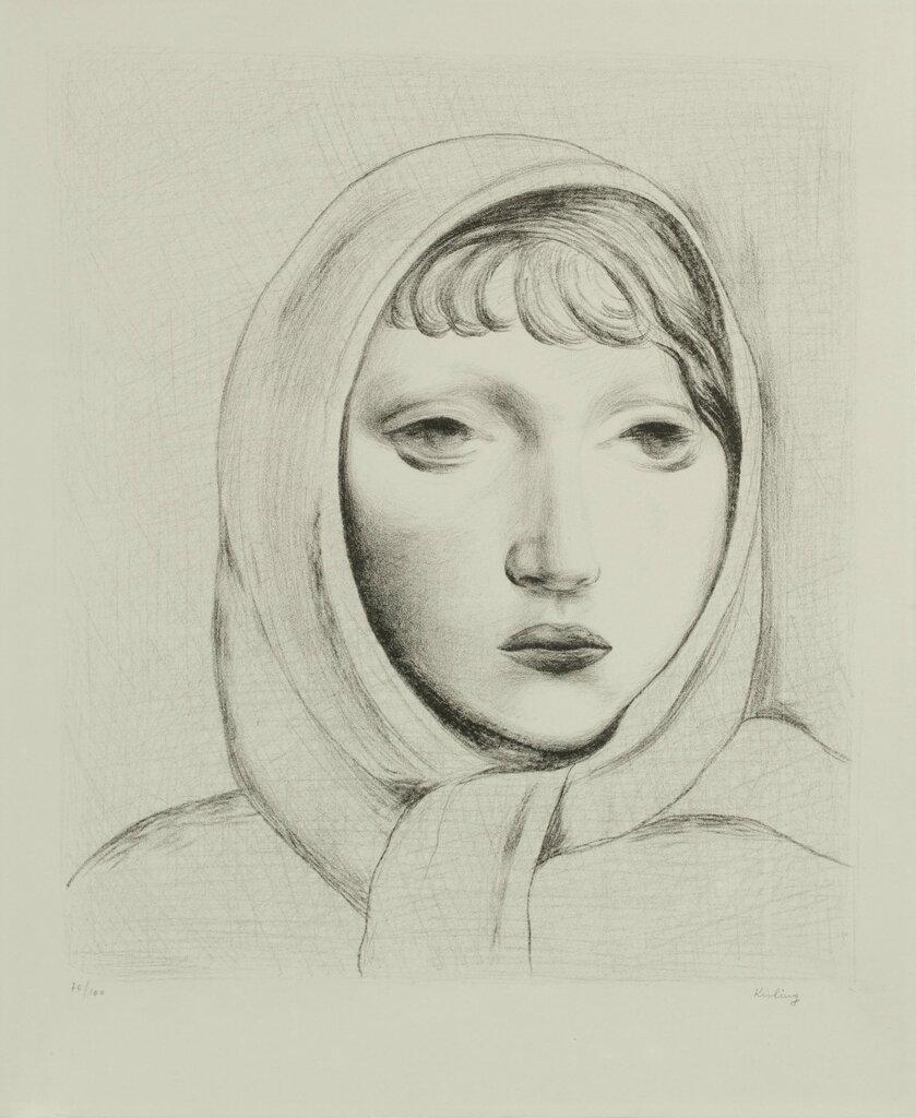 Голова молодой женщины. 410 x 350 мм. литография.jpg