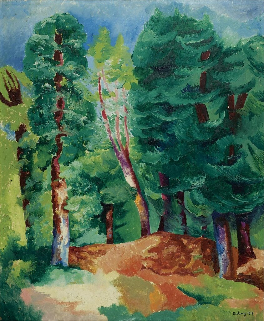 Деревья. 1919. 73 х 60 см. масло, холст. Частная коллекция.jpg