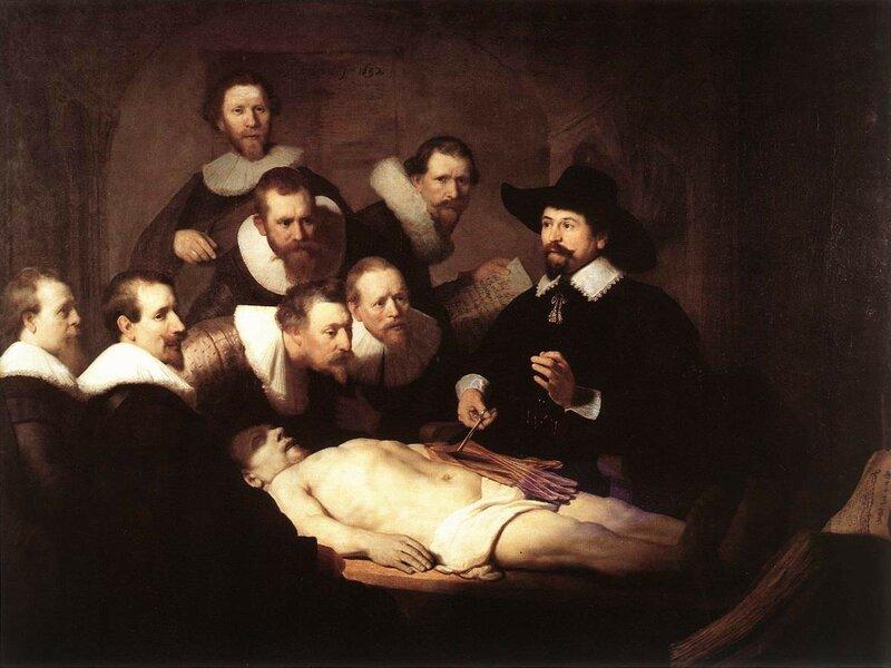 Урок анатомии доктора Николаса Тюльпа, 1632.