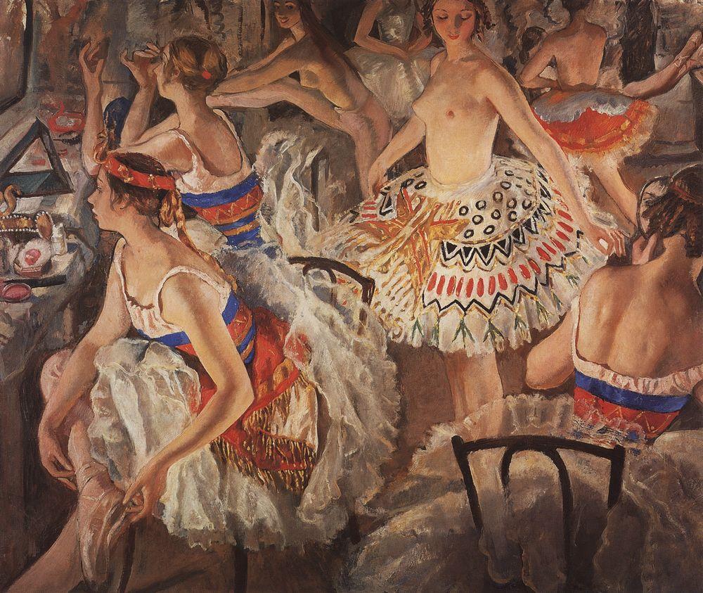 В балетной уборной (Большие балерины). 1922.jpg