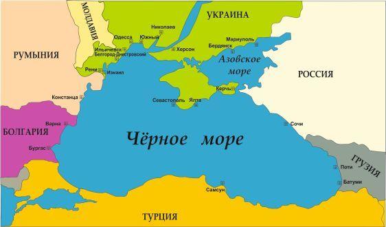 День Черного моря. Карта