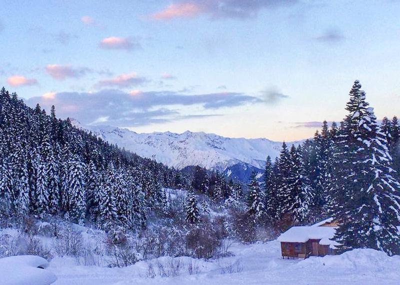 Природа Хацвали: горы, хвойные леса и много снега