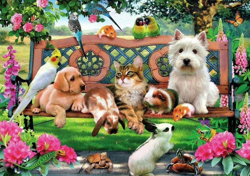 открытки з тваринами роза была