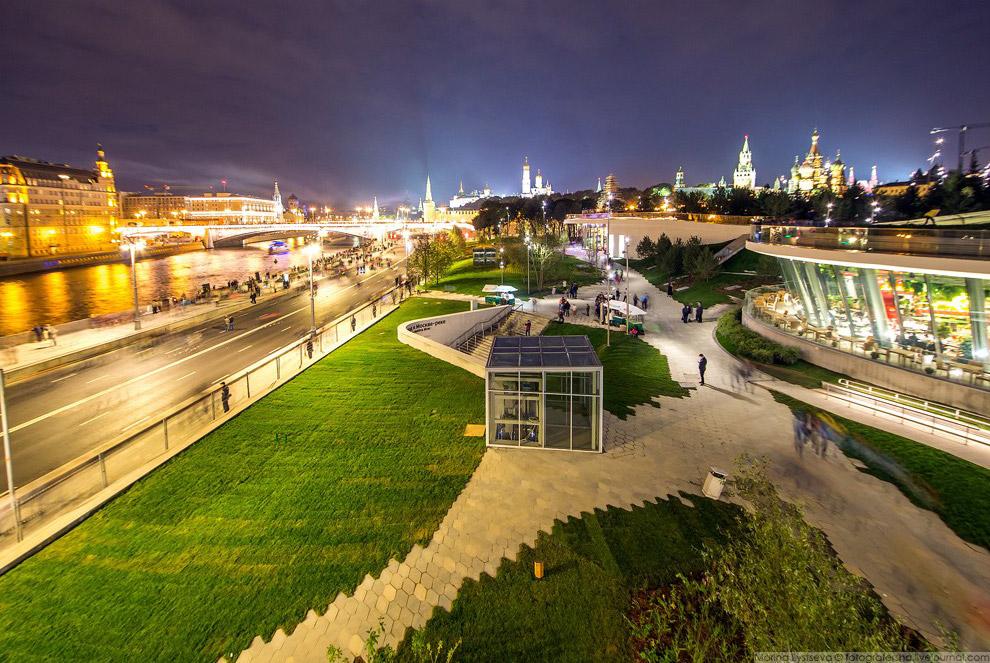 5. Вид на Кремль через хвойный лес.