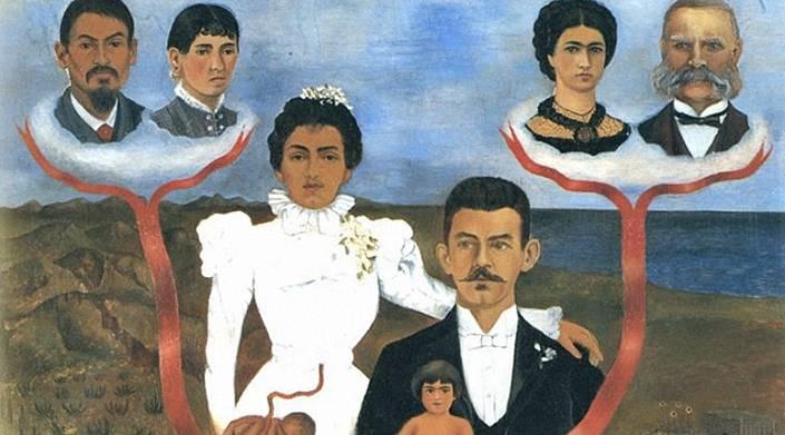 «Мои бабушки и дедушки, мои родители и я». Фрида Кало («Mis abuelos, mis padres y yo» by Frida Kahlo