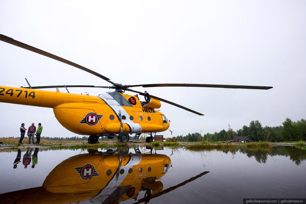 4. Во время полёта от Ныроба до плато Маньпупунёр пассажиры вертолёта могут полюбоваться видами урал