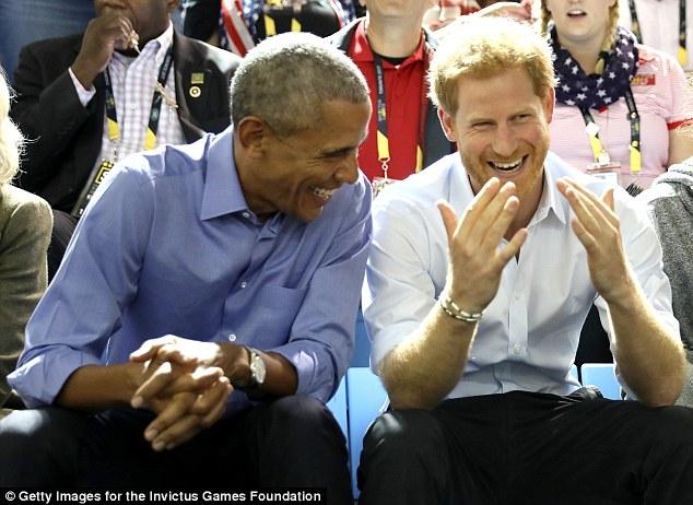Принц Гарри и бывший президент США Барак Обама на соревнованиях «Игры непокоренных» в Торонто. «Мне