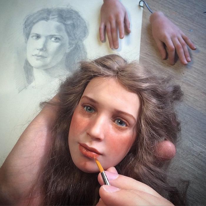 Автор своими руками создает потрясающих красавиц, которые выглядят как живые