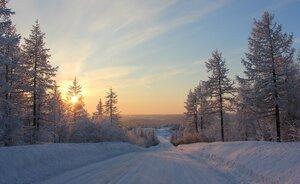 Дорога в час закатный....