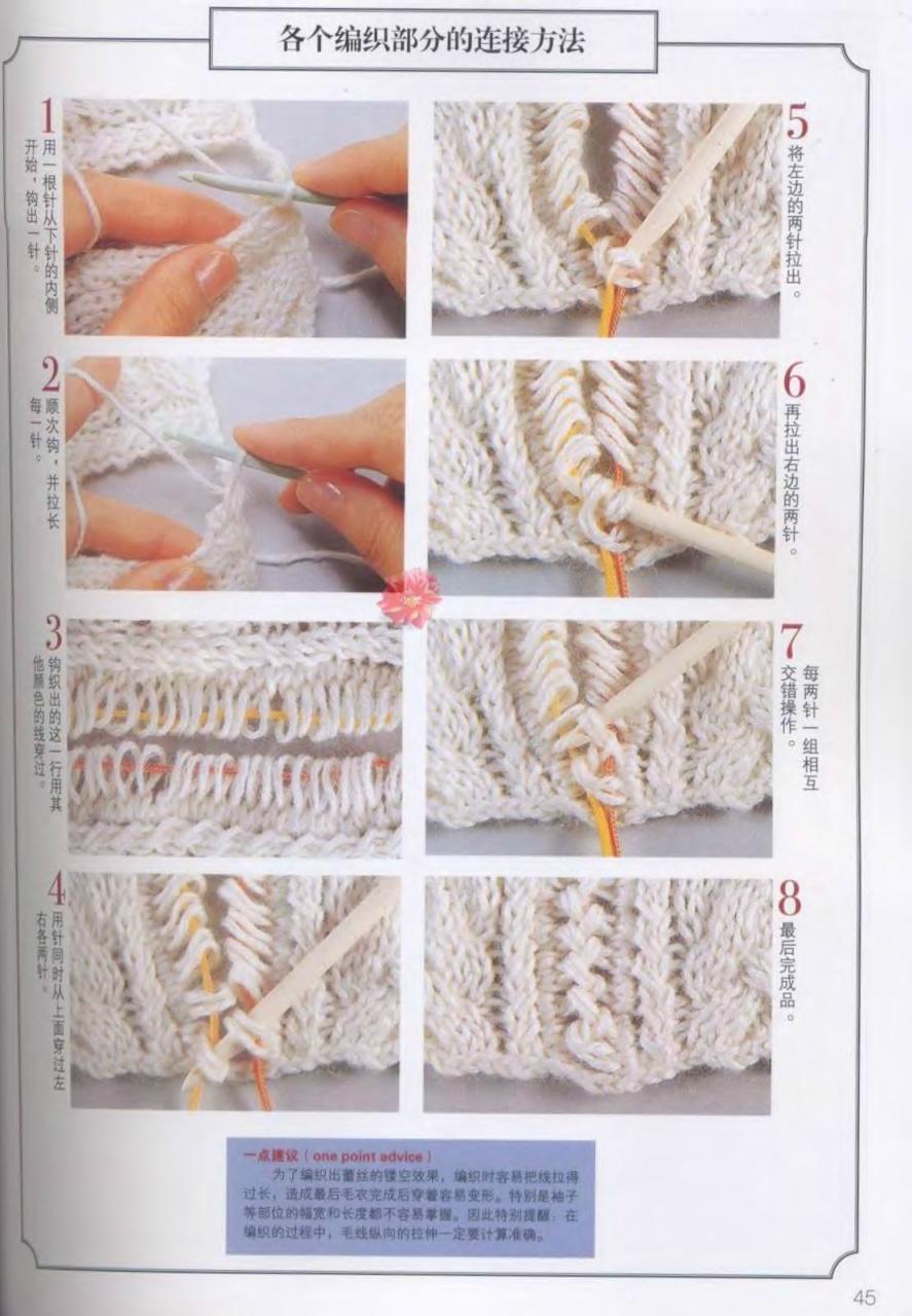 Соединение деталей в вязании спицами крючком