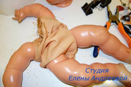 ремонт головы кукле