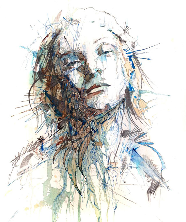 Vodka, Whiskey, Tea and Ink – Carne Griffiths (8 pics)