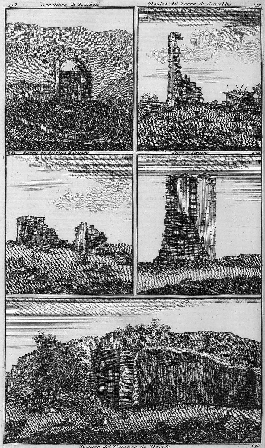 Путешествие из Вифлиема в Иерусалим. Гробница Рахель. Руины дворца Давида. Руины башни Иакова