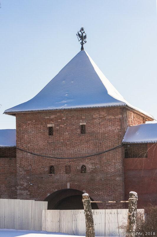 Спасская башня. Зарайский кремль.
