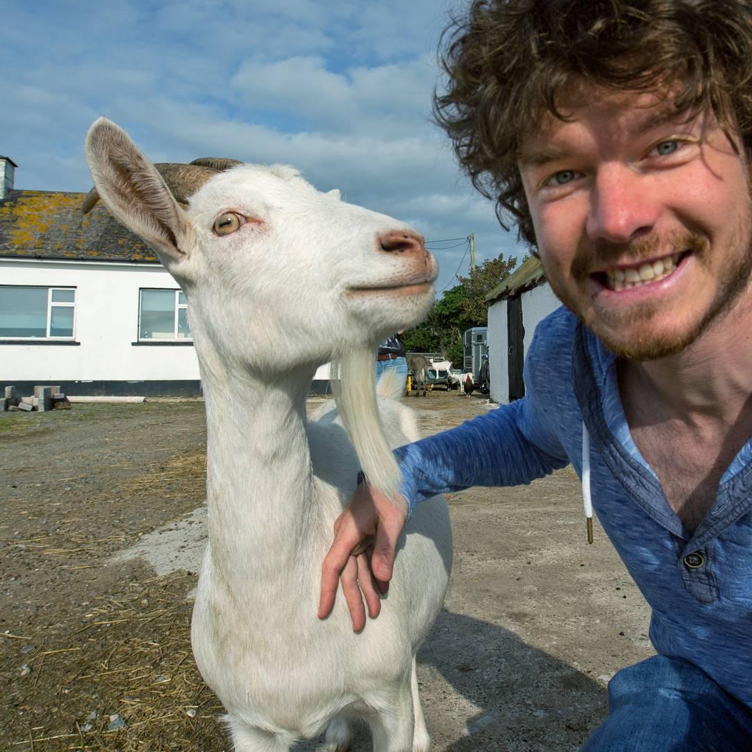 Классные селфи с животными от улыбчивого ирландца