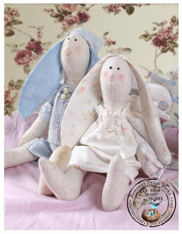 Тильда-зайцы Сплюшкин и Сонный ангел.