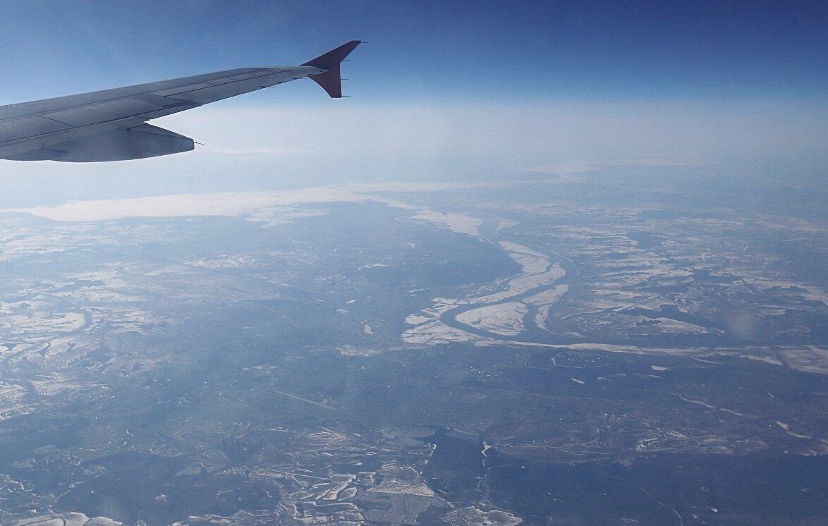 Волга у Казани.