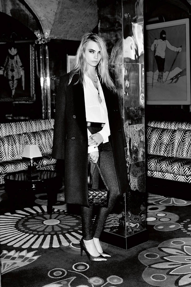 Кара Делевинь (Cara Delevingne) в рекламной фотосессии для Topshop