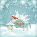 Xmas Bird Lantern Christmas Balls Background