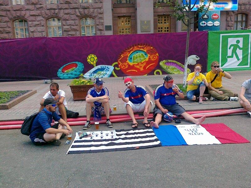 Фаны Евро 2012 под киевской мэрией