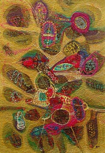 Колотвина Марина Древо желаний II. 1998. 75,8 х 52,5. Картон, акрил.jpg