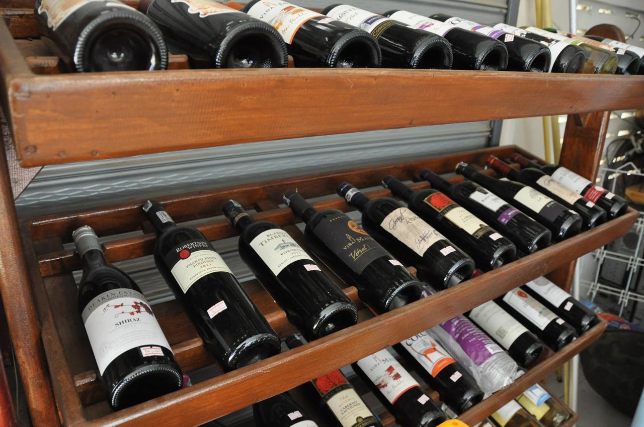 Самый маленький выбор вина, который мы тут видели