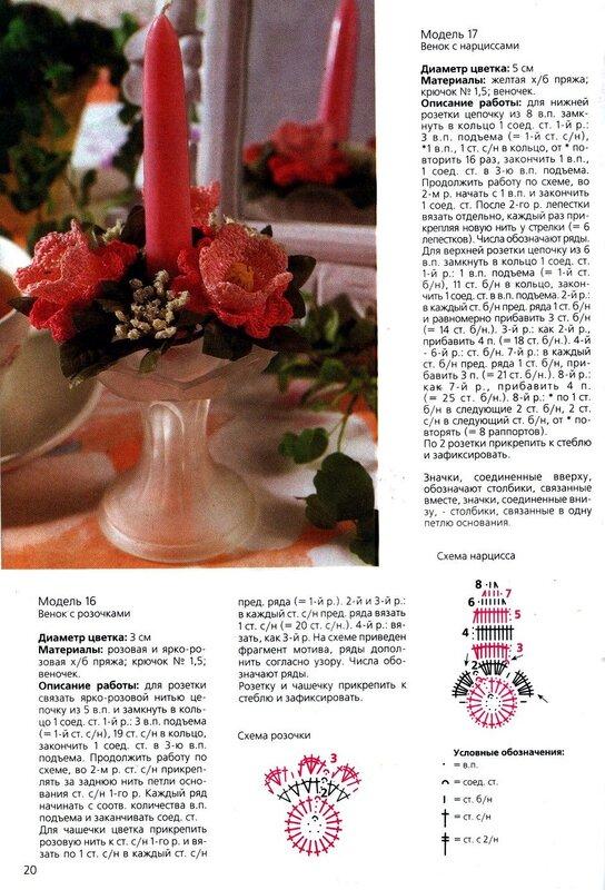 ВЯЗАНЫЕ ЦВЕТЫ СО СХЕМАМИ - 2. на Яндекс.Фотках.  Фотографии в альбоме.