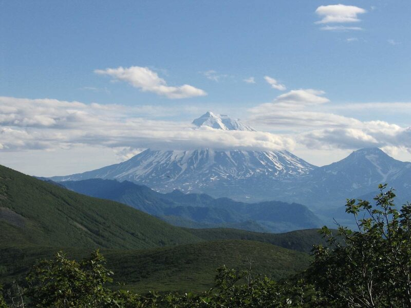 Камчатка, Корякская сопка, вид со склона вулкана Дзензур