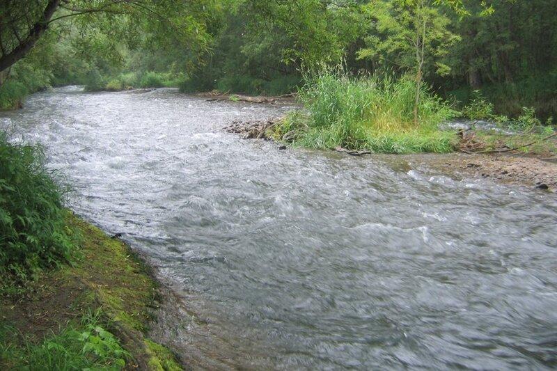 Река в Пиначево, Пиначевская долина, Камчатка