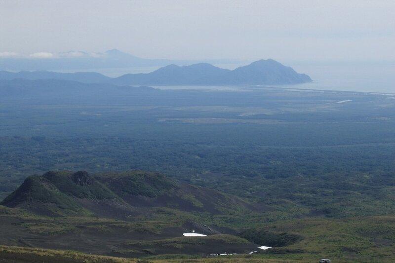 Камчатка, вид с Козельской сопки в сторону Тихого океана