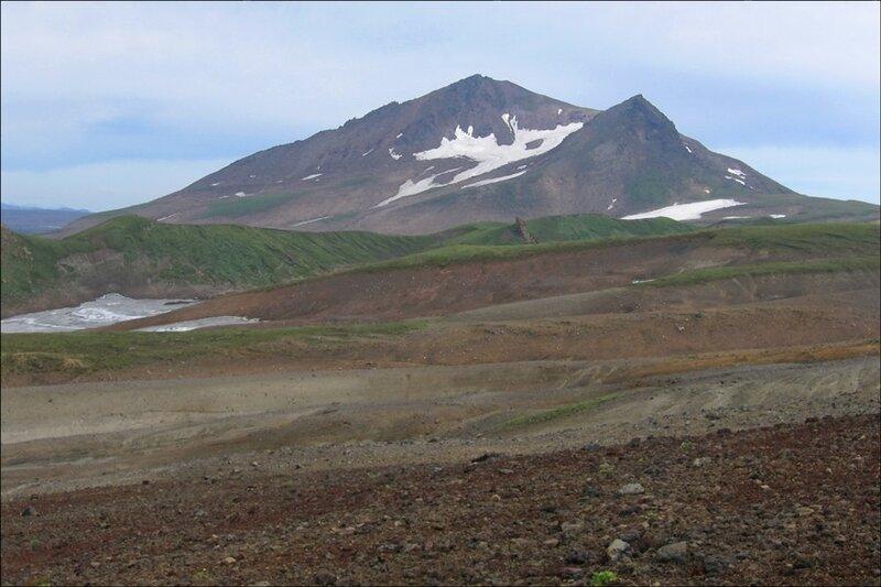Пейзаж в окрестностях Мутновского вулкана, Камчатка