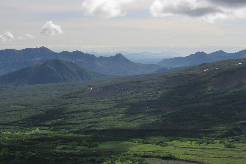 Пиначевский перевал, Камчатка, Тихий океан