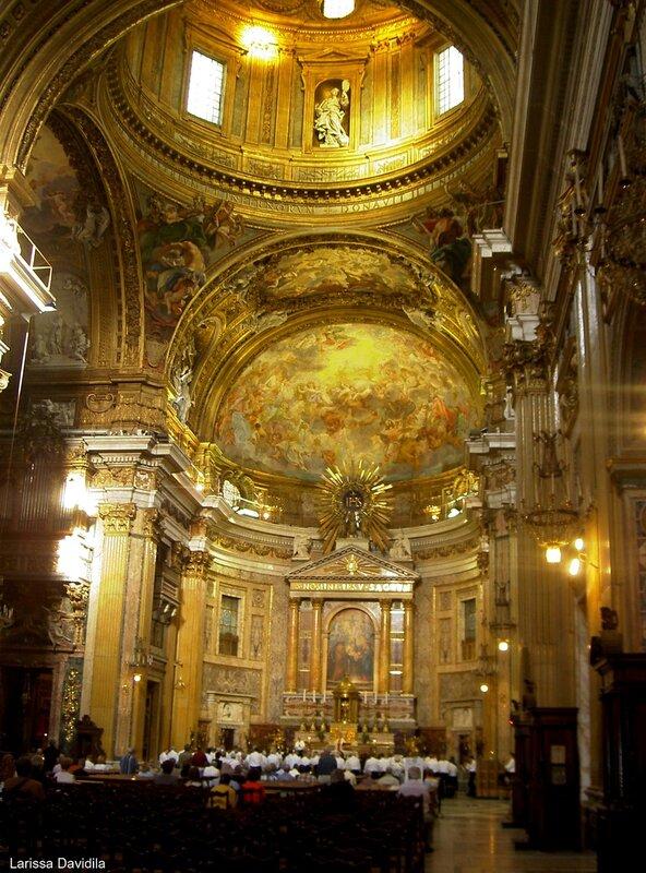 Одна из церквей Рима (2). Интерьер.