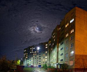 4030 ночь, город, небо, панорама, Чебоксары, HDR