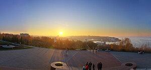 Памятник город, панорама, день, свет, Чебоксары, HDR