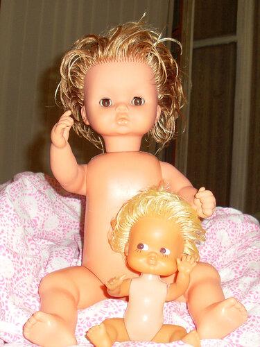 спасенные куклы-брошенки Клара и Катя, состояние-2