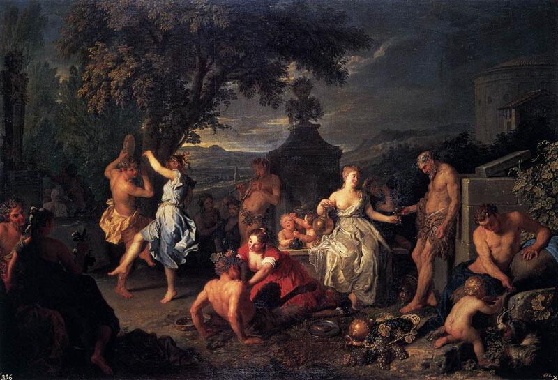 Михель-Анхе Уасс, 1719 г.Мадрид, музей Прадо, Вакханалия
