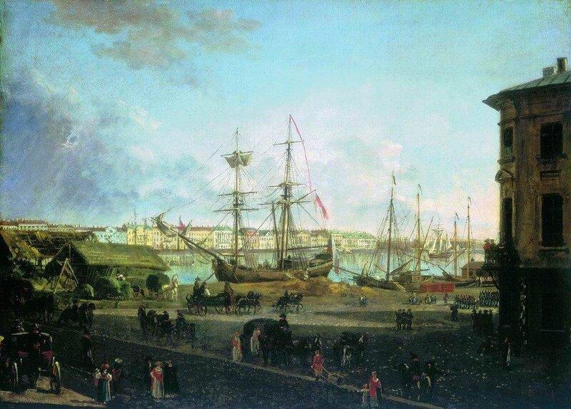 Вид Английской набережной со стороны Васильевского острова