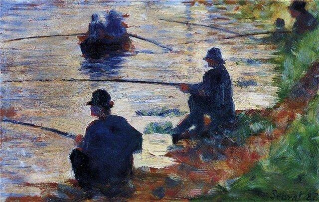 Жорж Сёра Рыбаки 1883 г.