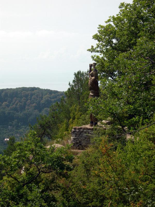 Прометей в скалах, photo foto fotki history россия адлер сочи кавказ кавказские горы  орлиные скалы прометей титан миф фортуна древнегреческий бог пейзаж фото фотки апарышев