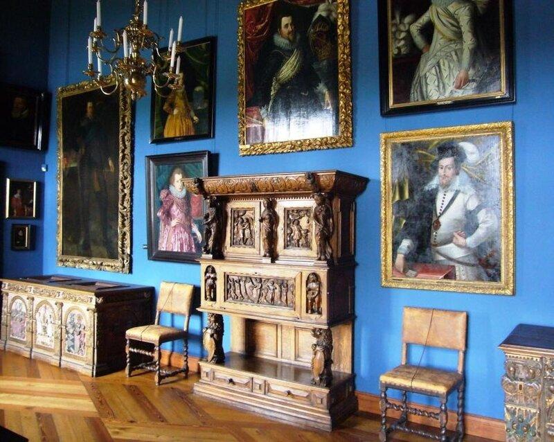 В одном из залов замка Frederiksborg.