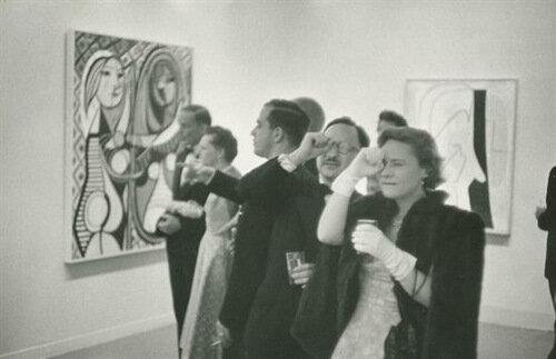 """Henri Cartier-Bresson, """"Picasso Retrospective in MoMA"""", 1957"""