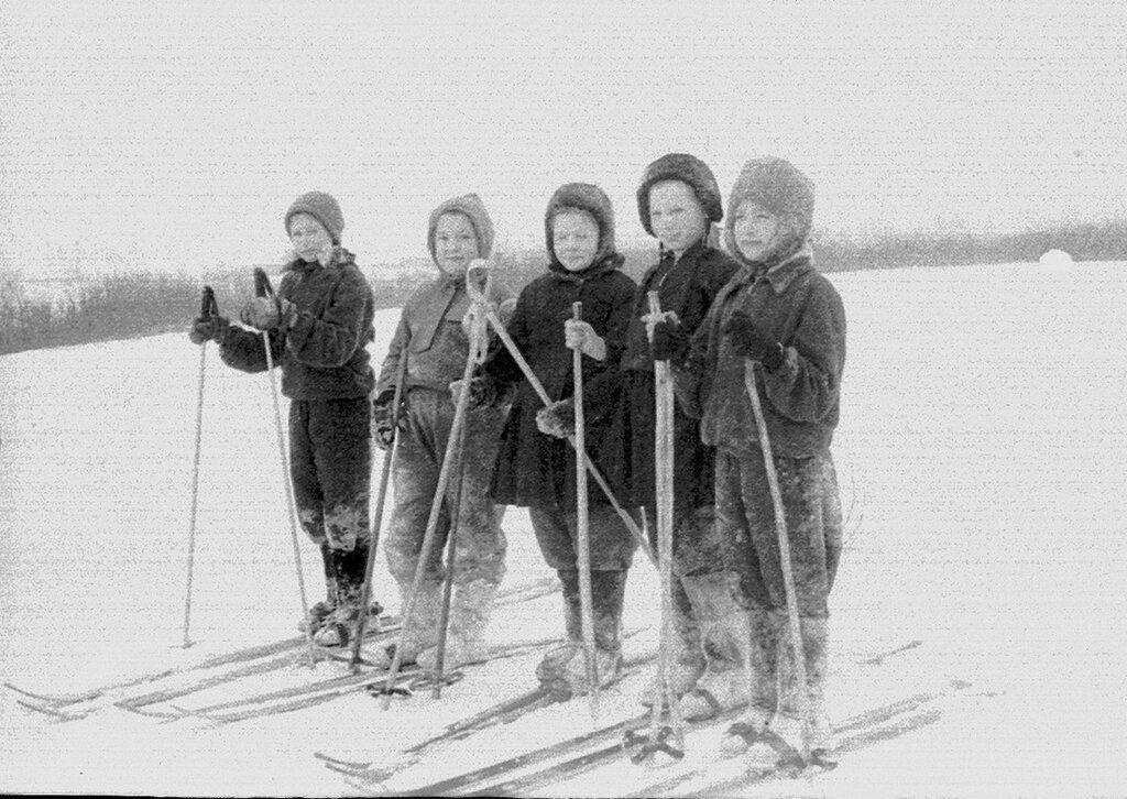 1964, лыжные старты в Трескино