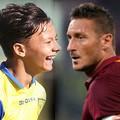 Вигнато сыграл против Тотти. Разница в возрасте футболистов  - 24 года .